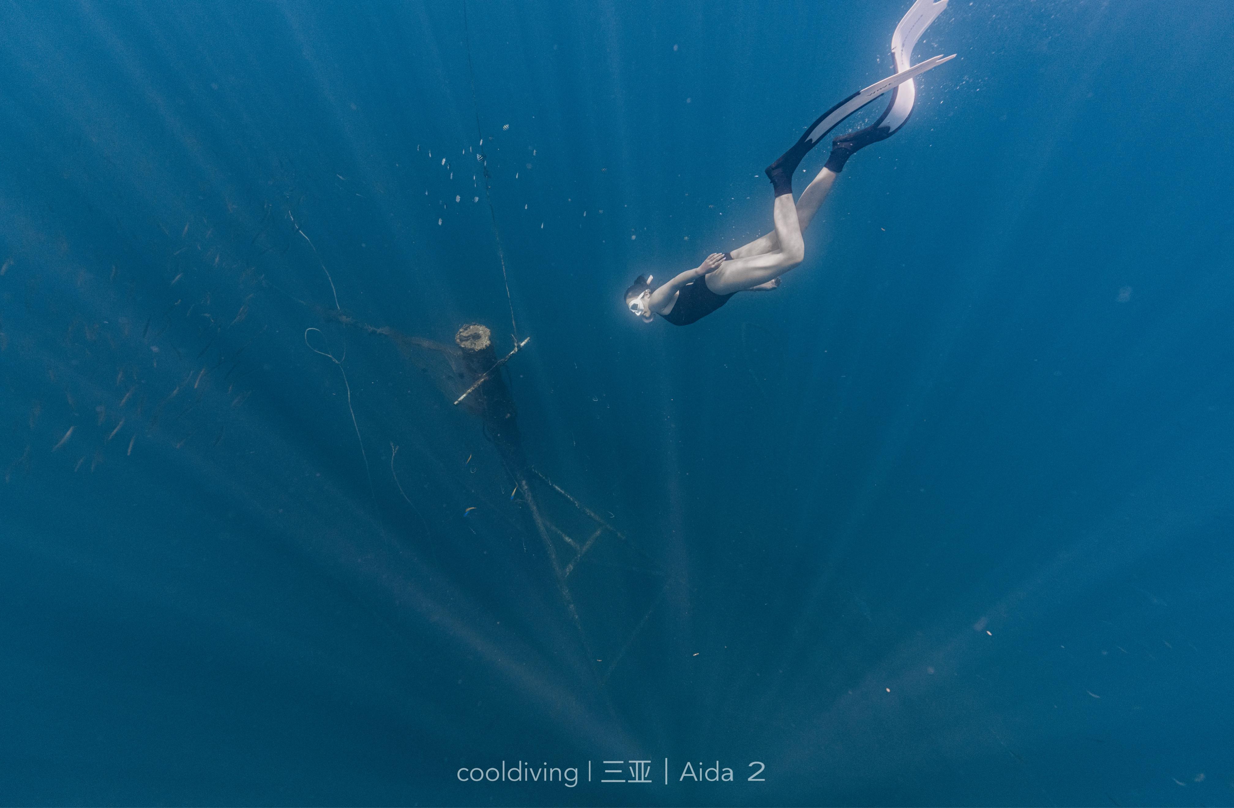 自由潜拍照,深度测验,AIDA课程