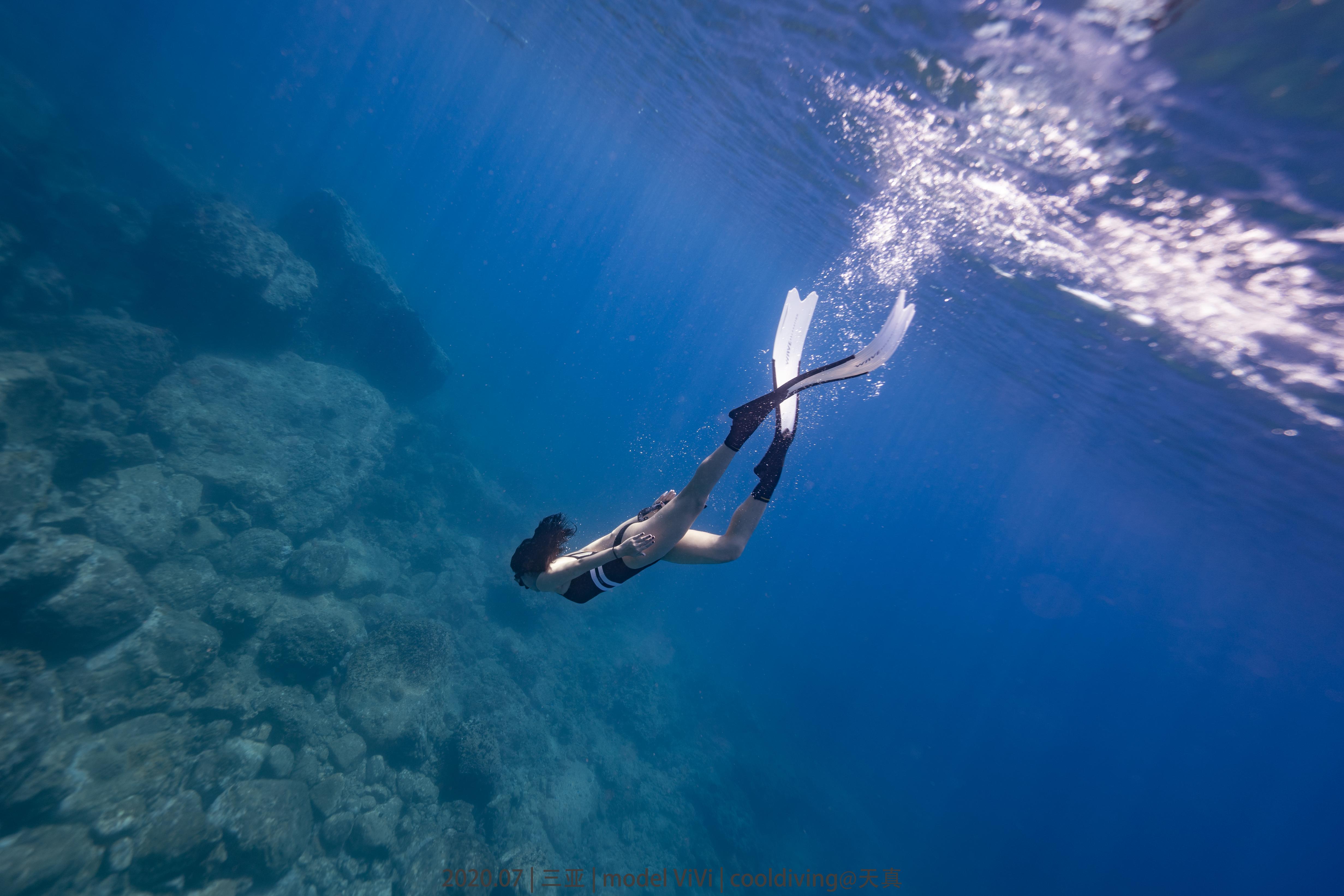 开放水域自由潜水,专业潜水人员,闭气潜水