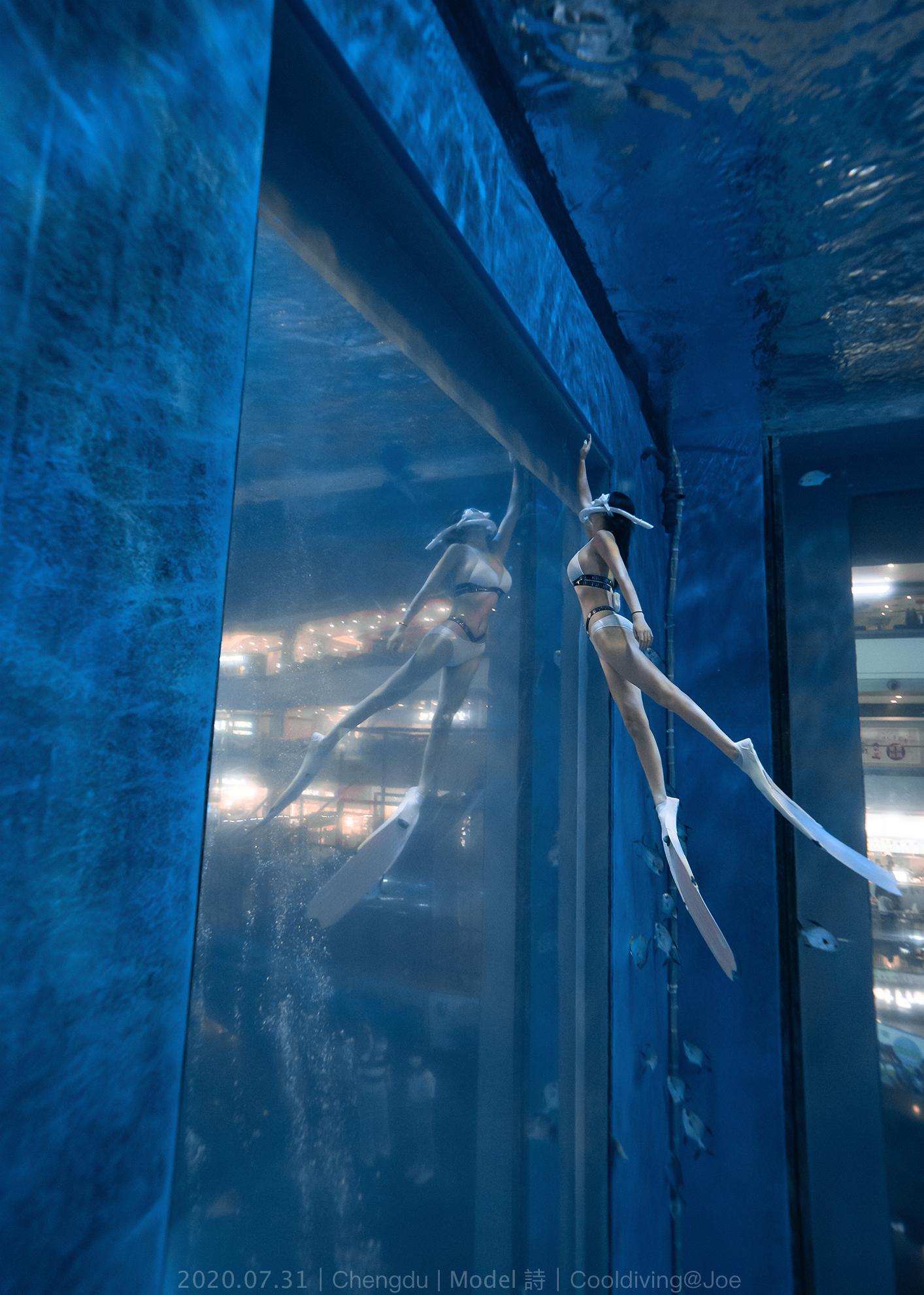 7.31成都自由潜拍摄 Model 诗